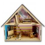 Лялькові дерев'яні будиночки та меблі