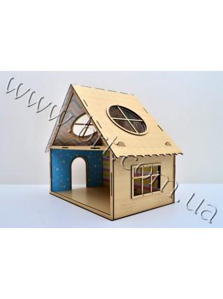 Будинок для ляльок 2 поверхи зі шпалерами на стінах