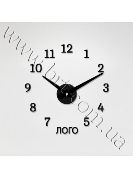 Годинник настінний 3d з логотипом