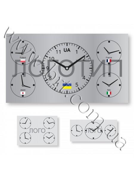 Годинник настінний 3, 4, 5 циферблатів