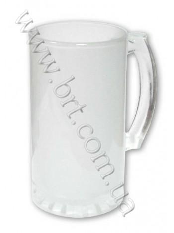 Пивний кухоль скляний матовий під сублімацію