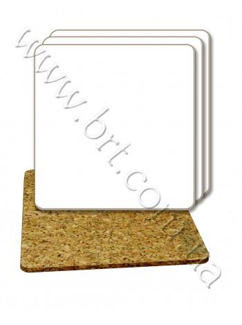 Костер корковий з сублімаційним покриттям - квадратний
