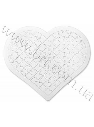 Пазл сердечко в картонній рамці 28*33 см, 97 елементів