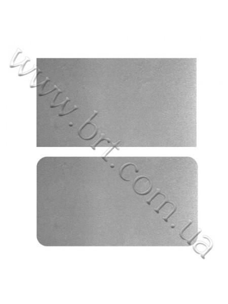 Двосторонні металеві візитівки 90*50 мм, 85*55 мм