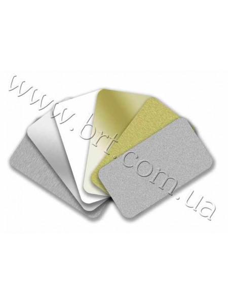 Заготовки металевих візиток зі скругленими кутами 90*50 мм, 85*55 мм