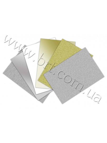 Заготовки металевих візитівок з гострими кутами 90*50 мм, 85*55 мм