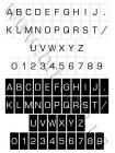 Букви для набірного меню