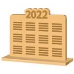 Настільні календарі з логотипом із дерева, пластику, акрилу, з підсвіткою