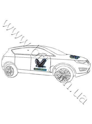 Фигурный магнит на автомобиль