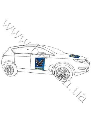 Прямоугольный магнит на авто