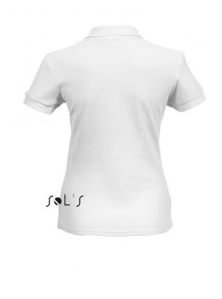 Футболка Солс Поло Пасіон жіноча з коміром, 170г біла
