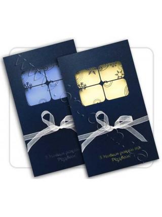 Новорічна листівка з вікном
