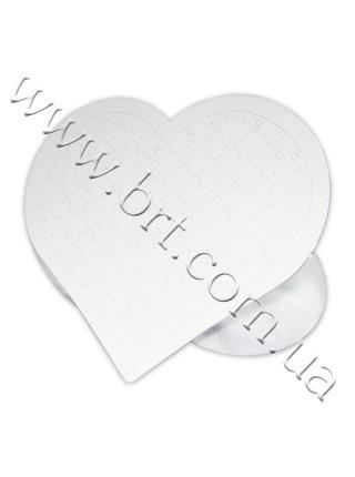 Пазли з фотографією Серце в рамці 28*33 см, 97 елементів