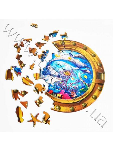 Пазл із дерева Океан з деталями у формі морських тварин, без рамки