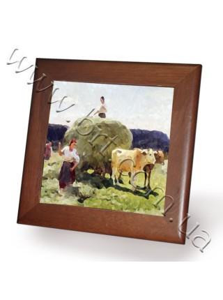 Керамічні картини, фото в рамі 15*15 см, 19.5*19.5 см