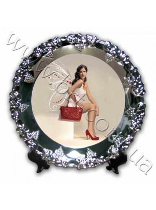 Тарілка з принтом металева - Виноград, 20 см
