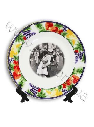 Тарілка з принтом - ободок Ягоди, 20 см