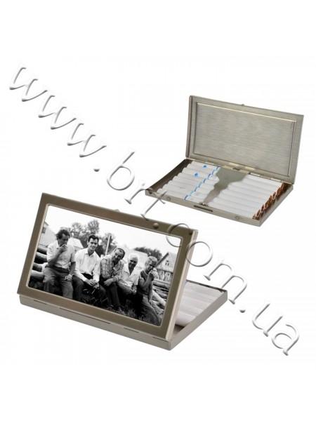 Портсигар металевий зі своїм фото, 100*55*10 мм