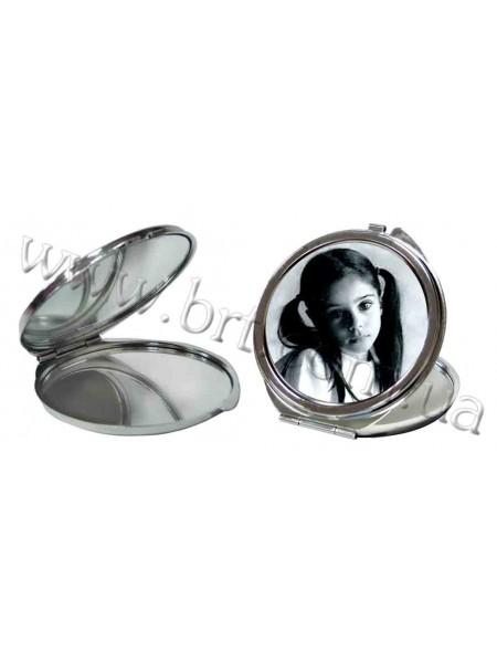 Дзеркальце кругле зі своєю фотографією