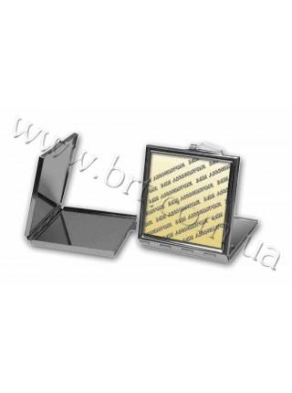 Дзеркальце квадратне зі своїм написом