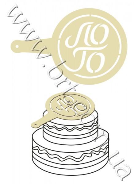 Трафарет для торта на замовлення