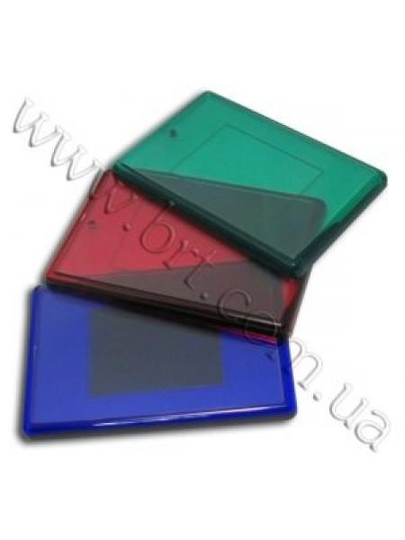 Магніт акриловий кольоровий прямокутний, 75*50 мм